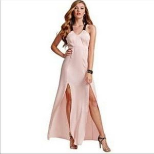 GuessFaux Leather Strap Maxi Dress